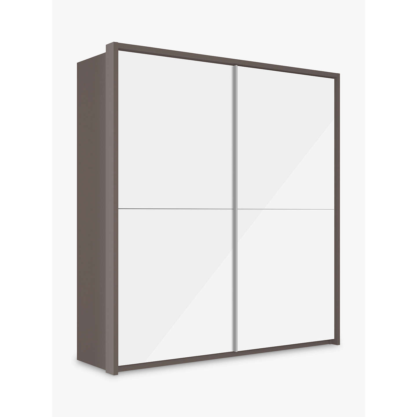 Buyjohn Lewis Girona 200Cm Wardrobe With Glass Sliding Doors, White