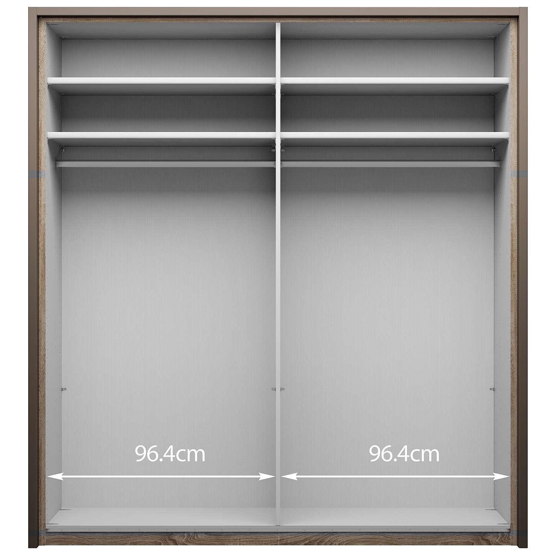 Buyjohn Lewis Girona 200Cm Wardrobe With Glass Sliding Doors, White