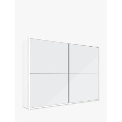 John Lewis Girona 300cm Wardrobe With Glass or Mirrored Sliding Doors