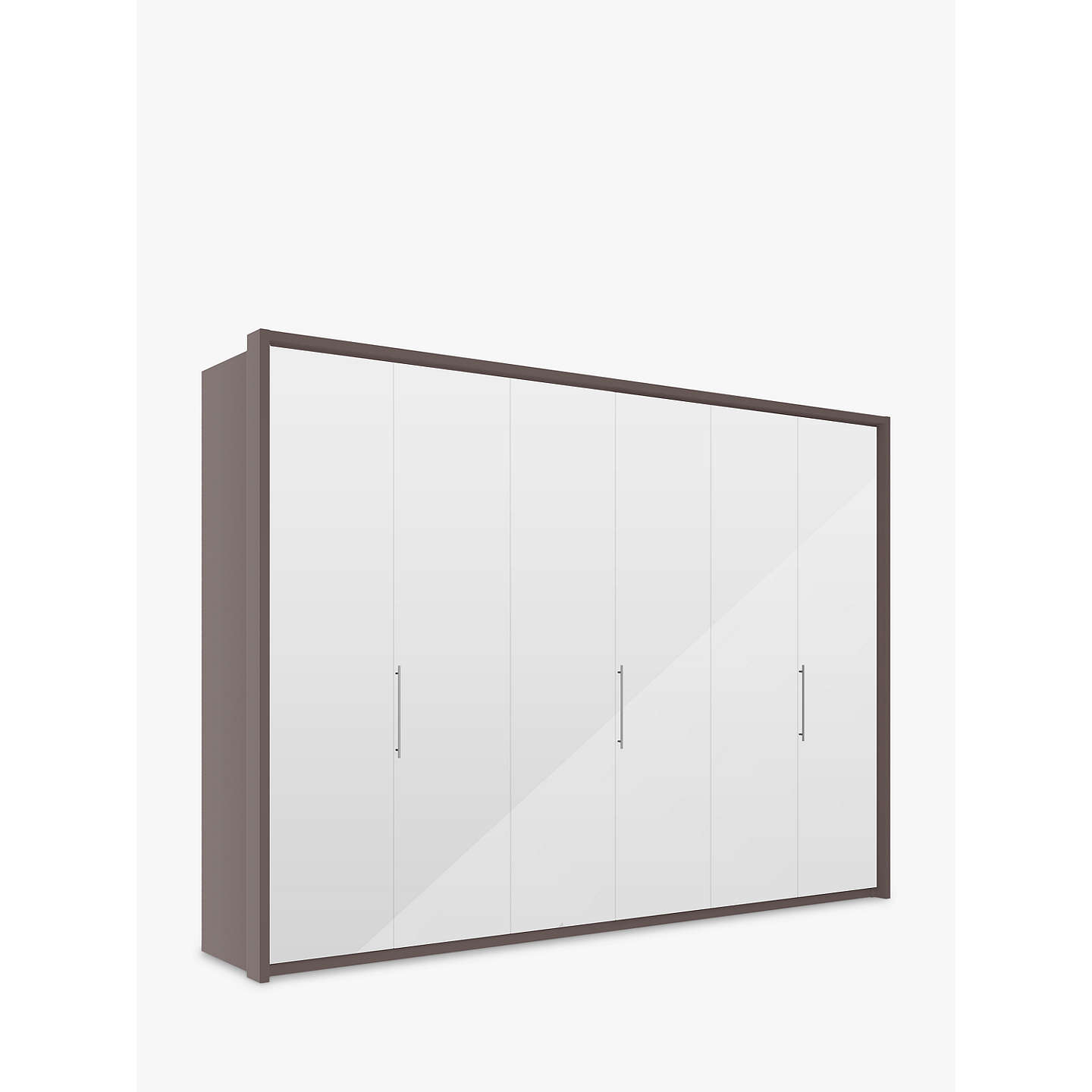 john lewis girona 300cm wardrobe with glass or mirrored. Black Bedroom Furniture Sets. Home Design Ideas