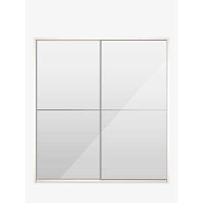 John Lewis & Partners Girona 200cm Wardrobe With Glass or Mirrored Sliding Doors