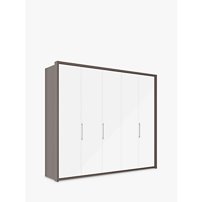 John Lewis Girona 250cm Wardrobe With Glass or Mirrored Hinged Doors