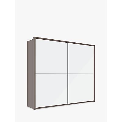 John Lewis Girona 250cm Wardrobe With Glass or Mirrored Sliding Doors