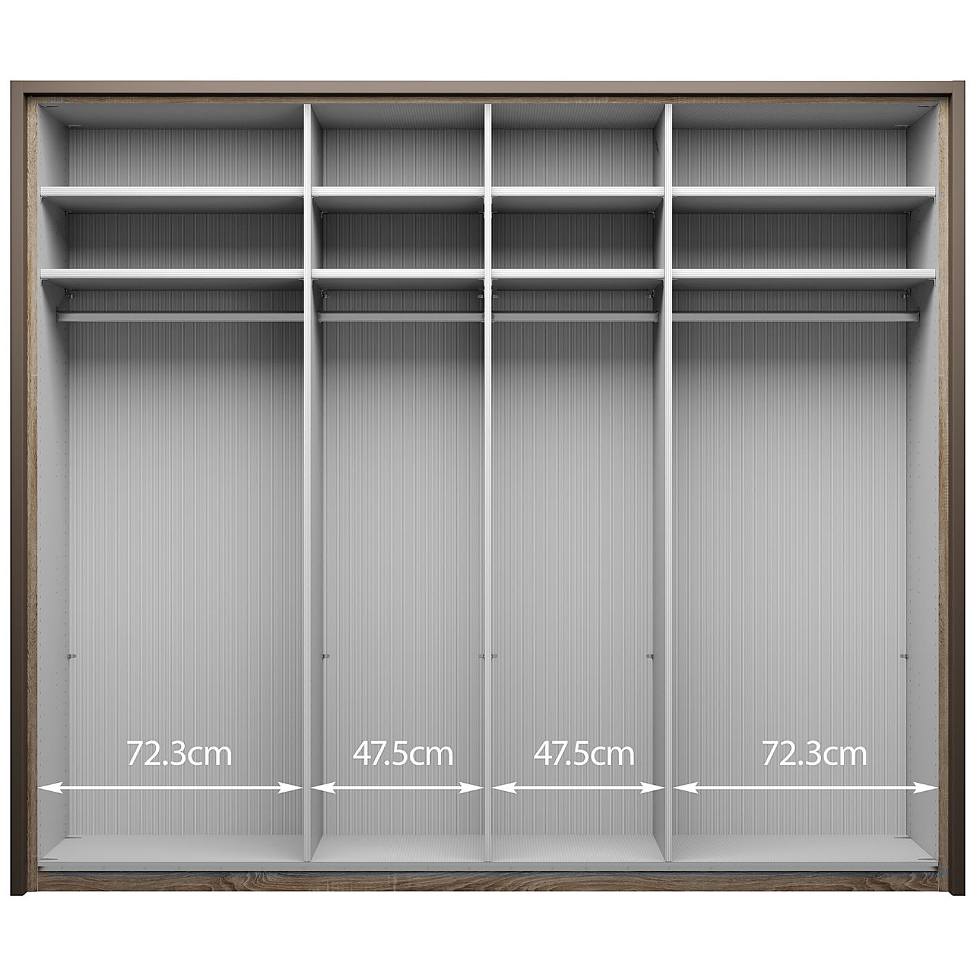 Bedroom Furniture John Lewis buy john lewis girona 250cm wardrobe with glass or mirrored