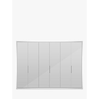 John Lewis & Partners Girona 300cm Wardrobe With Glass or Mirrored Hinged Doors