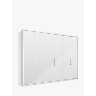 John Lewis Girona 300cm Wardrobe With Glass or Mirrored Hinged Doors