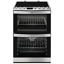 Buy AEG 43102V-MN Freestanding Electric Cooker, Stainless Steel Online at johnlewis.com