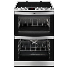 Buy AEG 47102V-MN Freestanding Electric Cooker, Stainless Steel Online at johnlewis.com