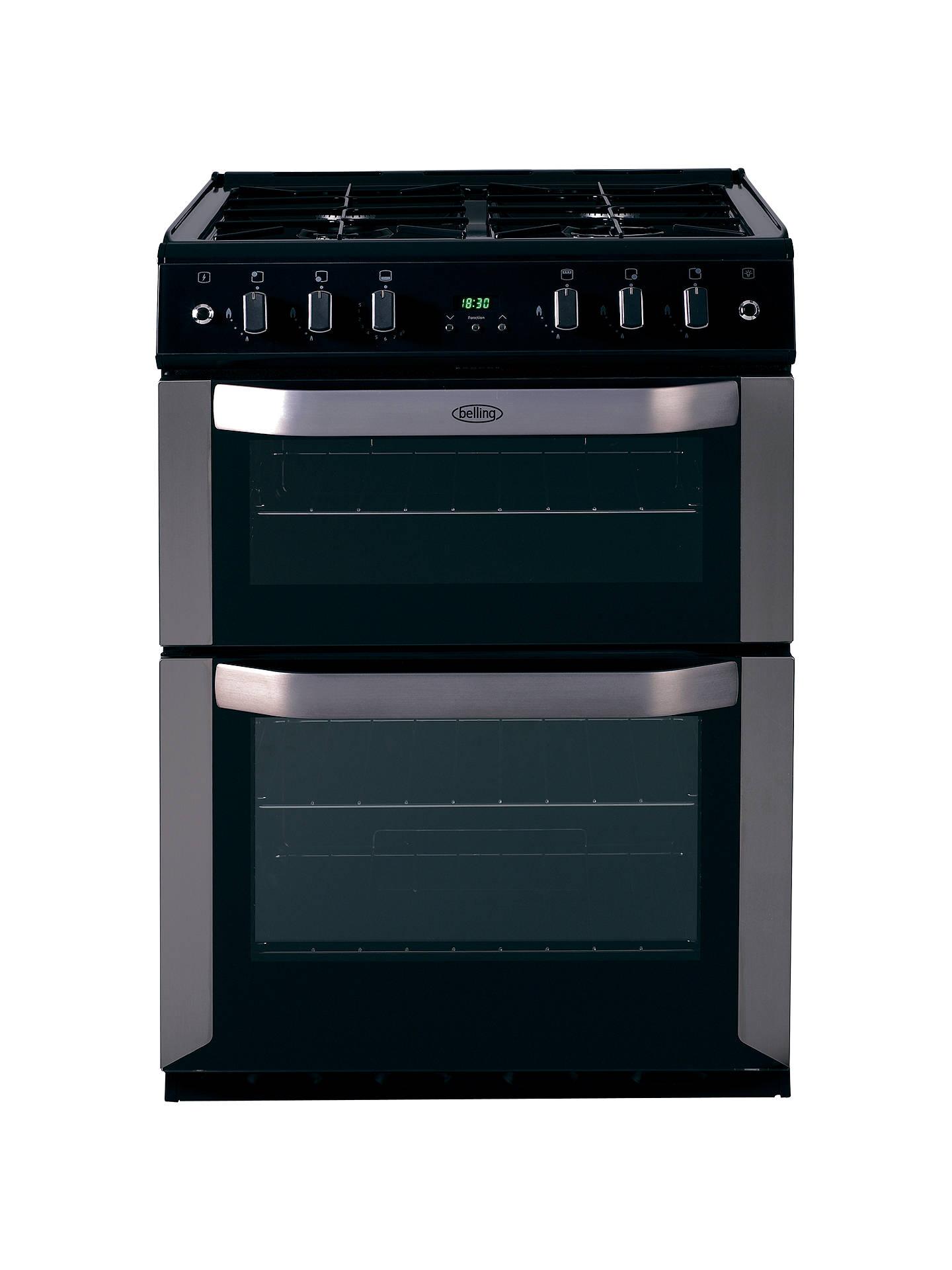 belling fsg60tc freestanding gas cooker stainless steel. Black Bedroom Furniture Sets. Home Design Ideas