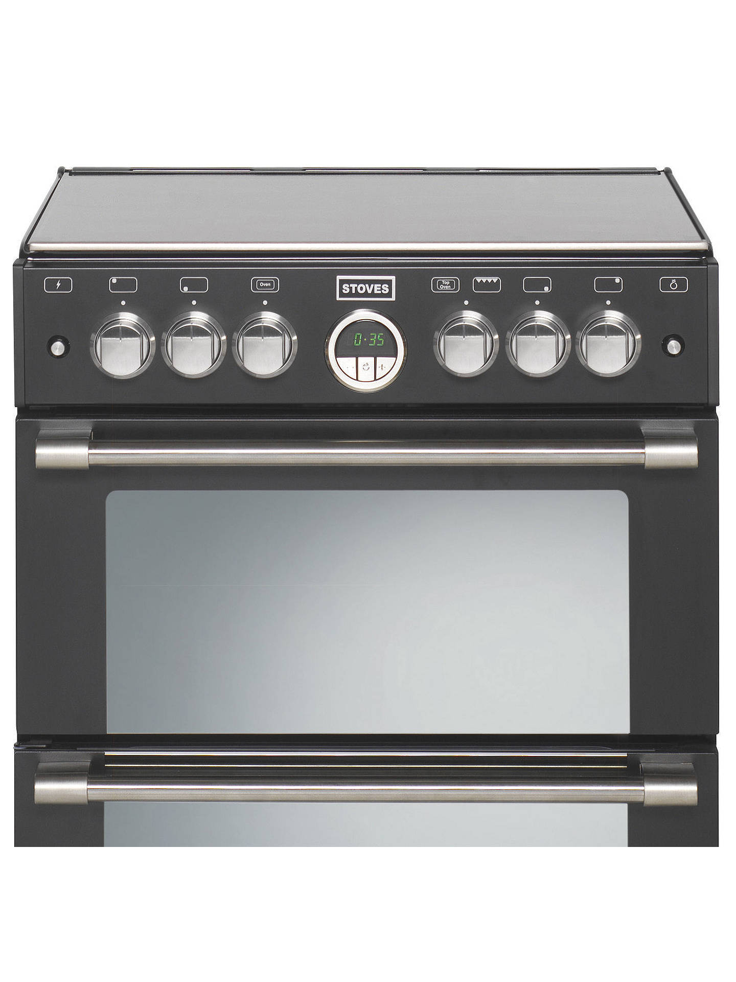 BuyStoves Sterling 600G Freestanding Gas Cooker, Black Online at johnlewis.com