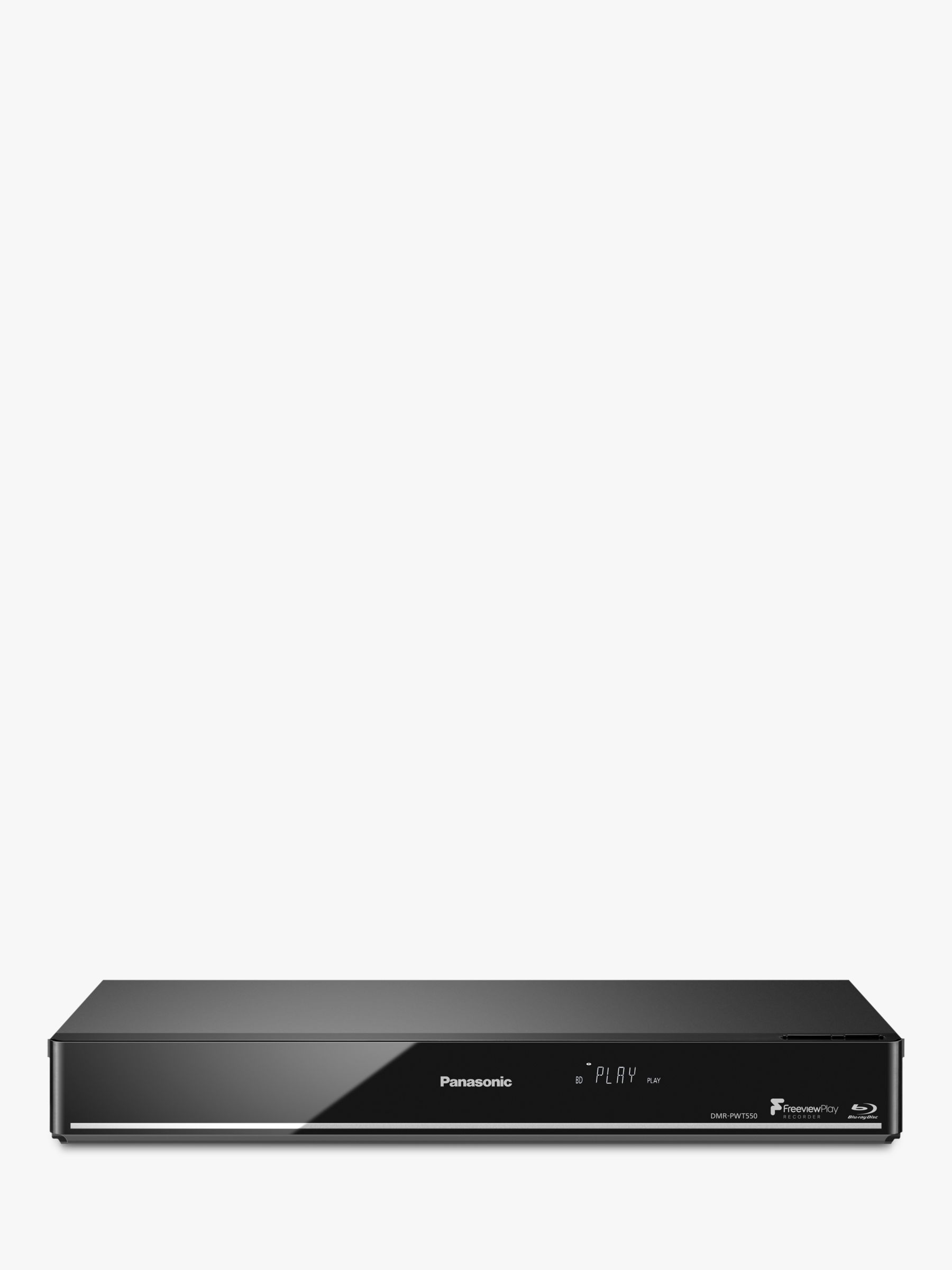 Panasonic DMR-PWT550EB Smart 3D 4K Upscaling Blu-ray/DVD Player with HDD  Recorder & Freeview Play