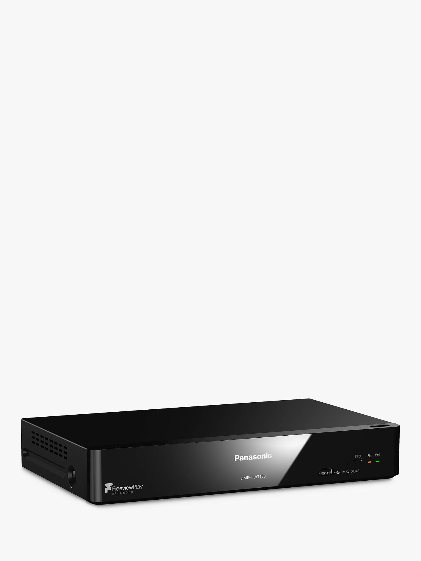 Buy Panasonic DMR-HWT150EB Smart Freeview HD & Freeview Play PVR with 500GB HDD Recorder Online at johnlewis.com