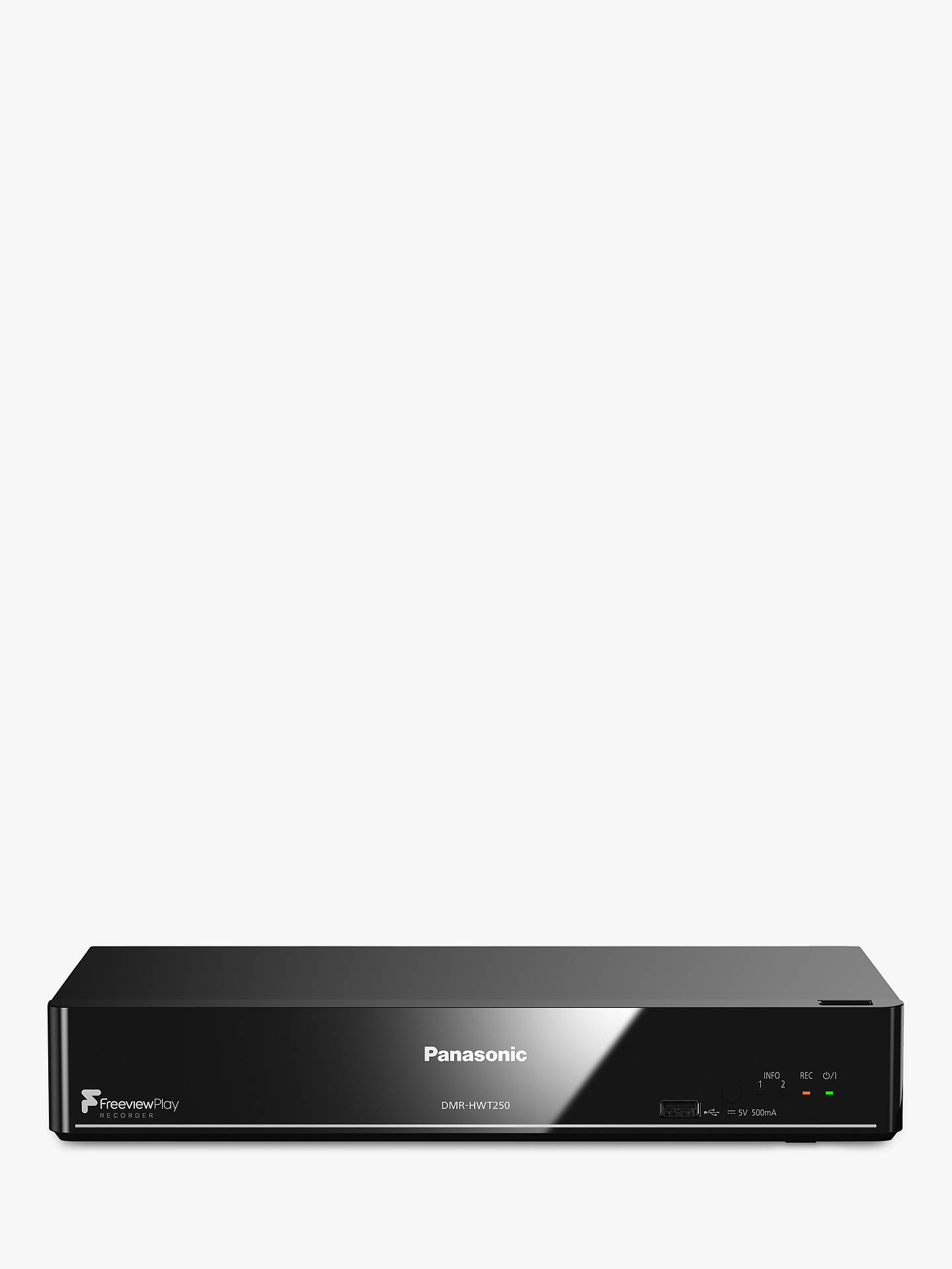 panasonic dmr hwt250eb smart freeview hd freeview play pvr with 1tb hdd recorder at john lewis. Black Bedroom Furniture Sets. Home Design Ideas
