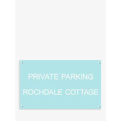 The House Nameplate Company Personalised Acrylic Rectangular House Sign, Small