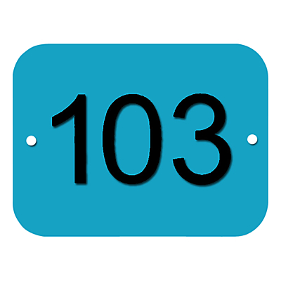 The House Nameplate Company Personalised Acrylic Rectangular House Number, W15 x H11cm