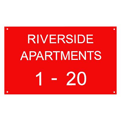 The House Nameplate Company Personalised Acrylic Rectangular House Sign, Large