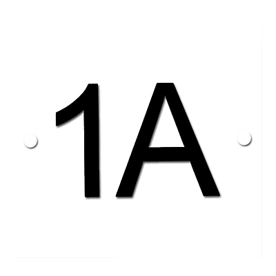 The House Nameplate Company Personalised Acrylic Square House Number, W11.5 x H11.5cm