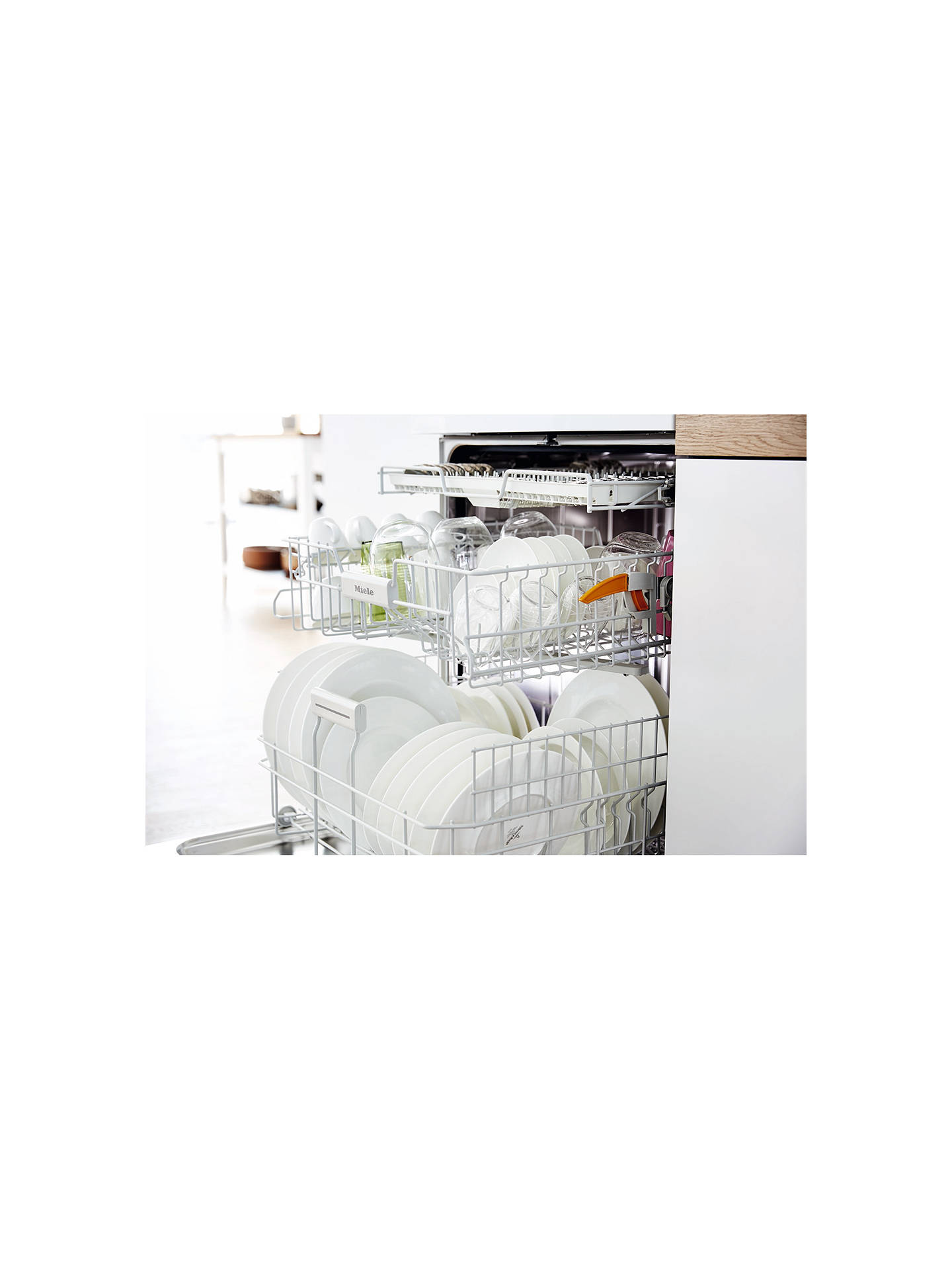 Miele G4203SC Freestanding Dishwasher, White