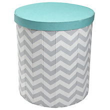 Buy John Lewis Chevron Print Storage Bin, Grey/Teal Online at johnlewis.com