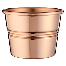 Buy John Lewis John Lewis Croft Collection Copper Pot, Small Online at johnlewis.com