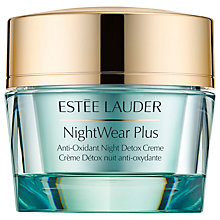 Buy Estée Lauder Nightwear Plus Anti-Oxident Night Detox Crème, 50ml Online at johnlewis.com
