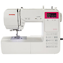 Buy Janome 5050 Sewing Machine, White Online at johnlewis.com