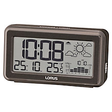 Buy Lorus Weather Forecast Alarm Clock, Black Online at johnlewis.com