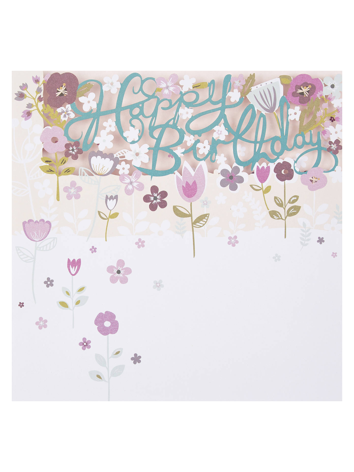 Paperlink Happy Birthday Flowers Card At John Lewis Partners