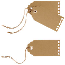 Buy Ginger Ray Vintage Affair Kraft Luggage Tags, Pack Of 10 Online at johnlewis.com