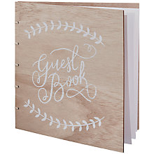 Buy Ginger Ray Wooden Look Guest Book Online at johnlewis.com