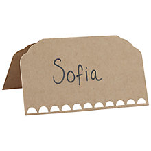Buy Ginger Ray Vintage Affair Kraft Place Cards, Pack Of 10 Online at johnlewis.com