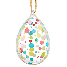 Buy John Lewis Glass Decorative Egg, Small, Assorted Online at johnlewis.com