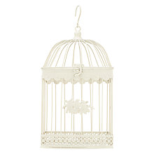 Buy John Lewis Large Square Bird Cage with Birds Online at johnlewis.com