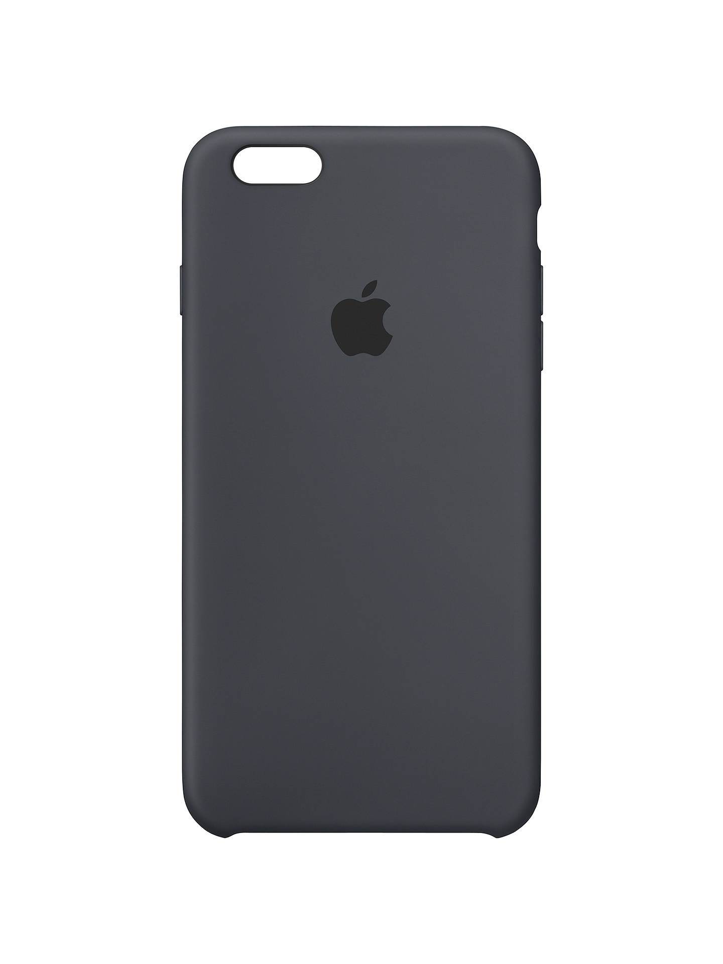 buy online 040c0 773b7 Apple Silicone Case for iPhone 6s Plus, Charcoal Grey