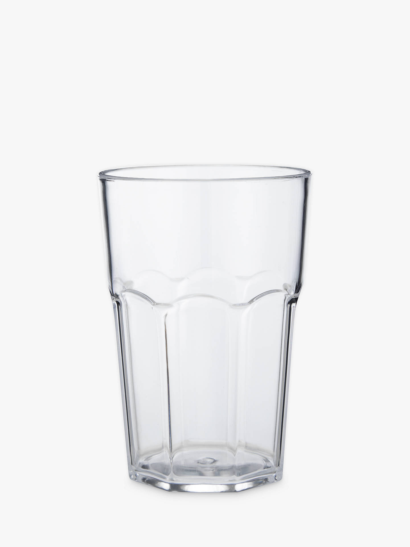 Buy John Lewis & Partners The Basics Picnic Plastic Soda-Style Tumbler, Clear Online at johnlewis.com