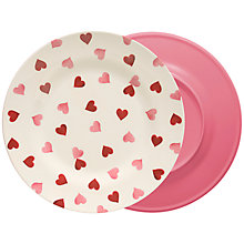 Buy Emma Bridgewater Pink Hearts Melamine Dinner Plate, Dia.25.5cm Online at johnlewis.com