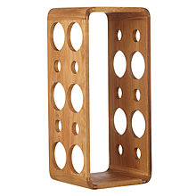 Buy John Lewis Wall Mounted Wine Rack, 10 Bottle, Oak Wood Online at johnlewis.com