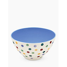 Buy Emma Bridgewater Polka Dot Melamine Salad Bowl, Multi, Dia.26.5cm Online at johnlewis.com