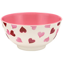 Buy Emma Bridgewater Pink Hearts Melamine Bowl, Dia.15cm Online at johnlewis.com