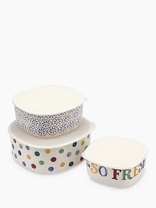 Emma Bridgewater Polka Dot Plastic Storage Containers, Set of 3, Multi