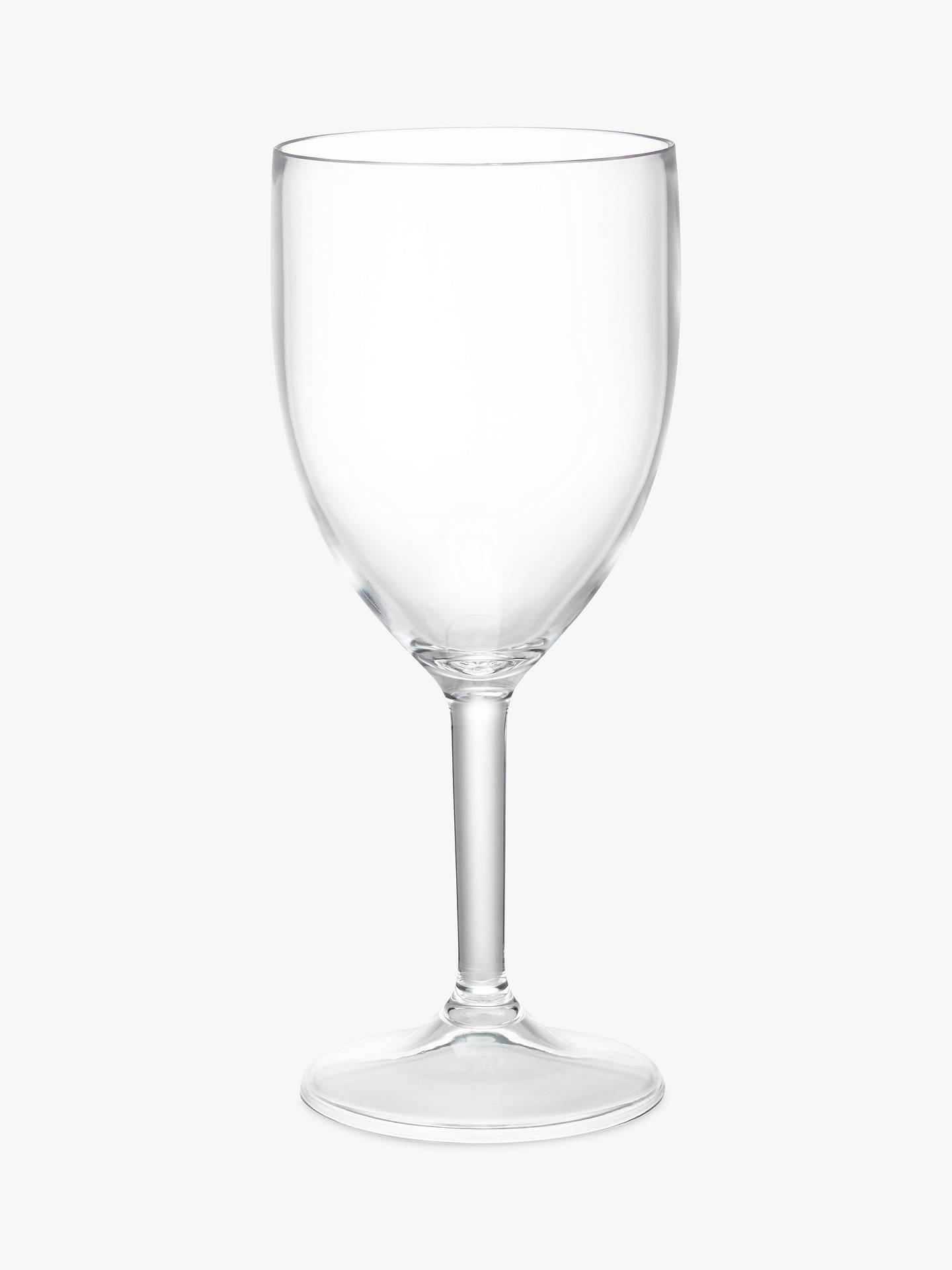 John Lewis Partners Plastic Wine Glasses Set Of 4 285ml At John