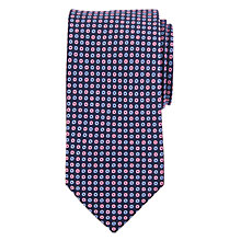 Buy John Lewis Mini Circle Silk Tie, Navy/Pink Online at johnlewis.com