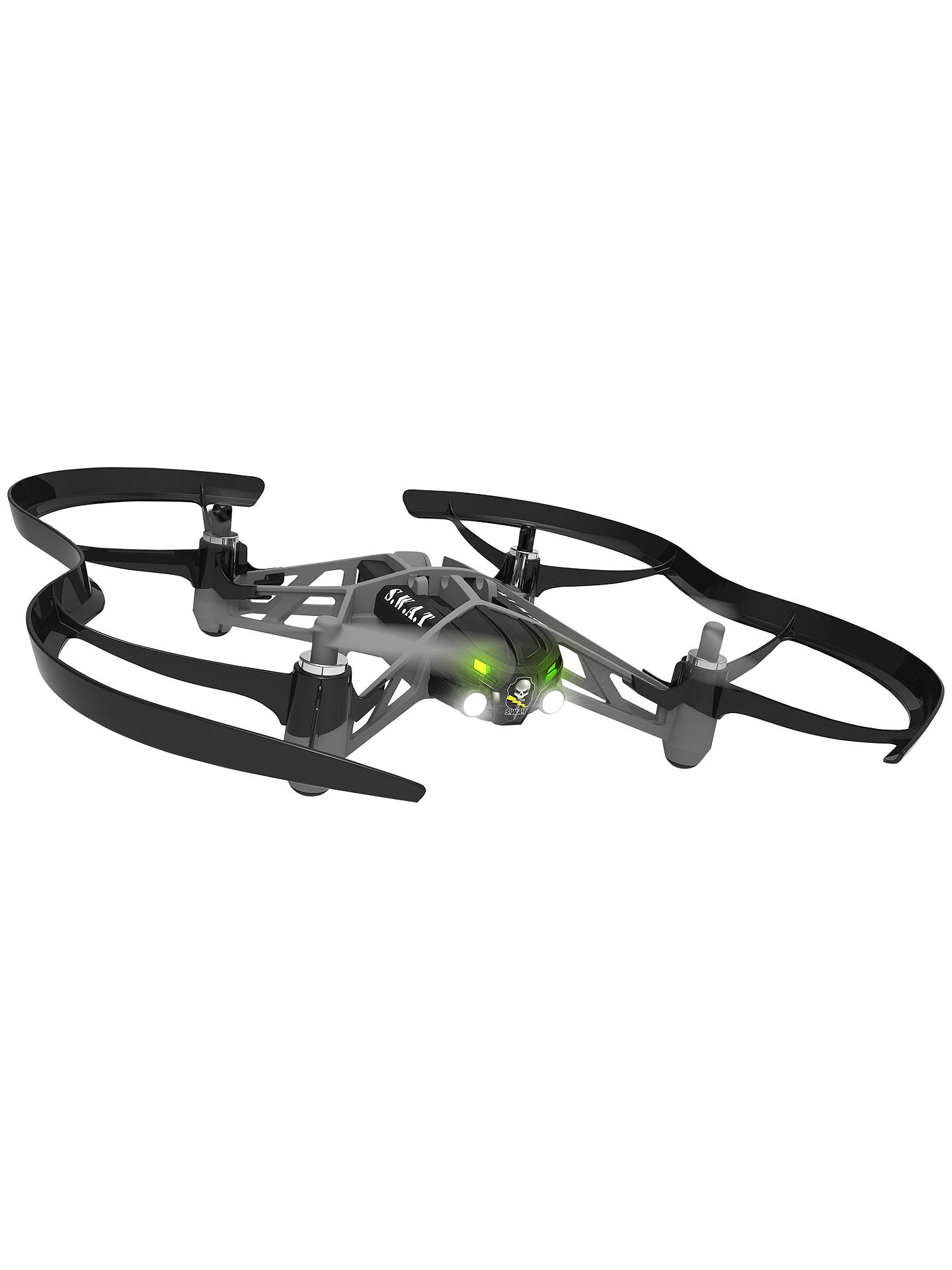 Parrot Swat Airborne Night Minidrone Black At John Lewis Partners Minidrones Rolling Spiders White Buyparrot Online