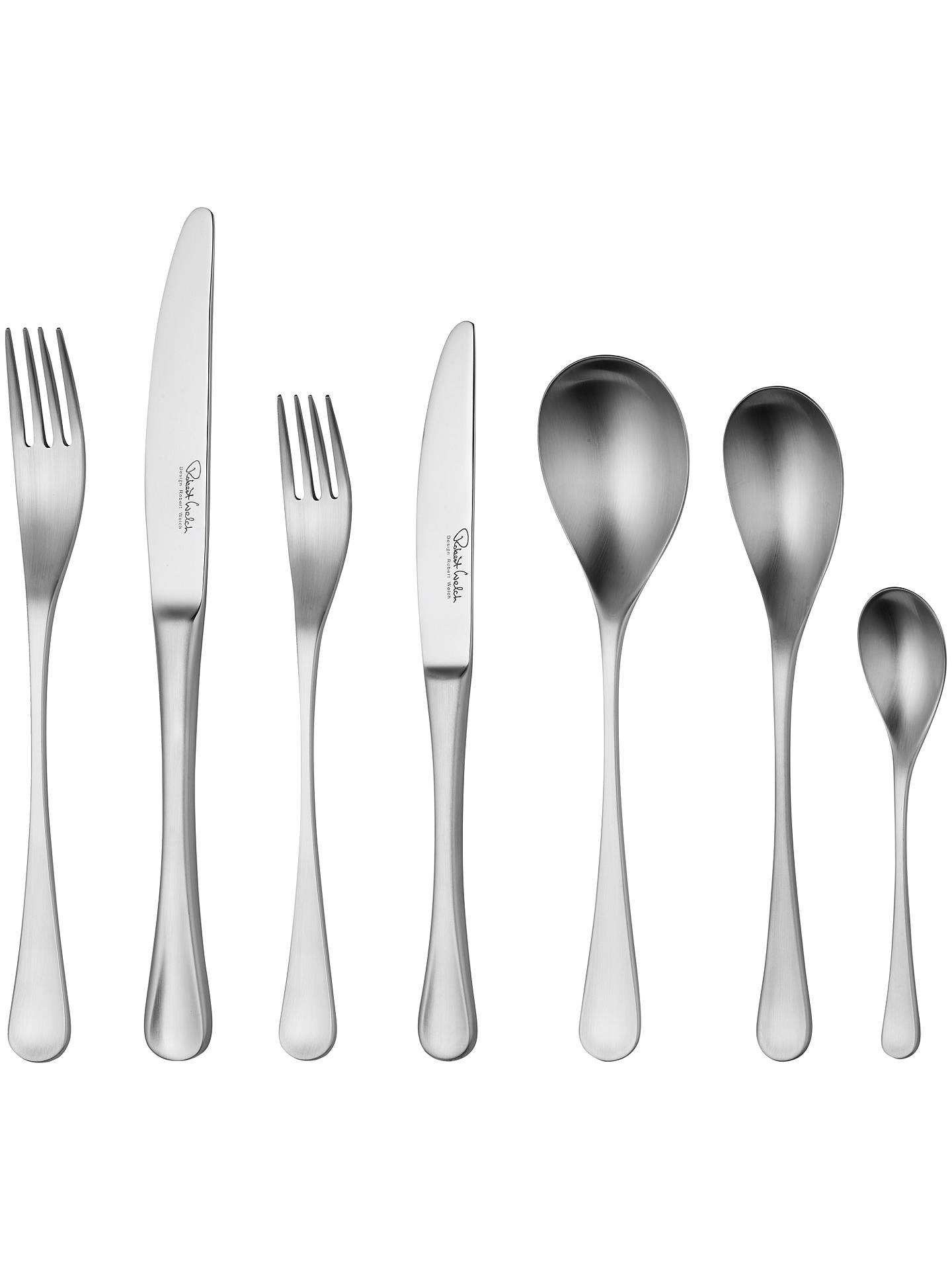 Buy Robert Welch RW2 Satin Cutlery Set, 56 Piece/8 Place Settings Online at johnlewis.com