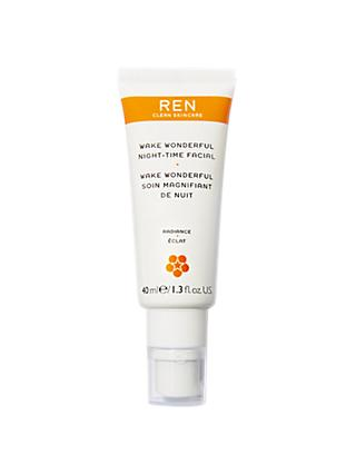 REN Wake Wonderful Night-Time Facial, 40ml