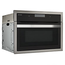 Buy John Lewis JLBIC04 Built-in Combination Microwave, Black/Stainless Steel Online at johnlewis.com