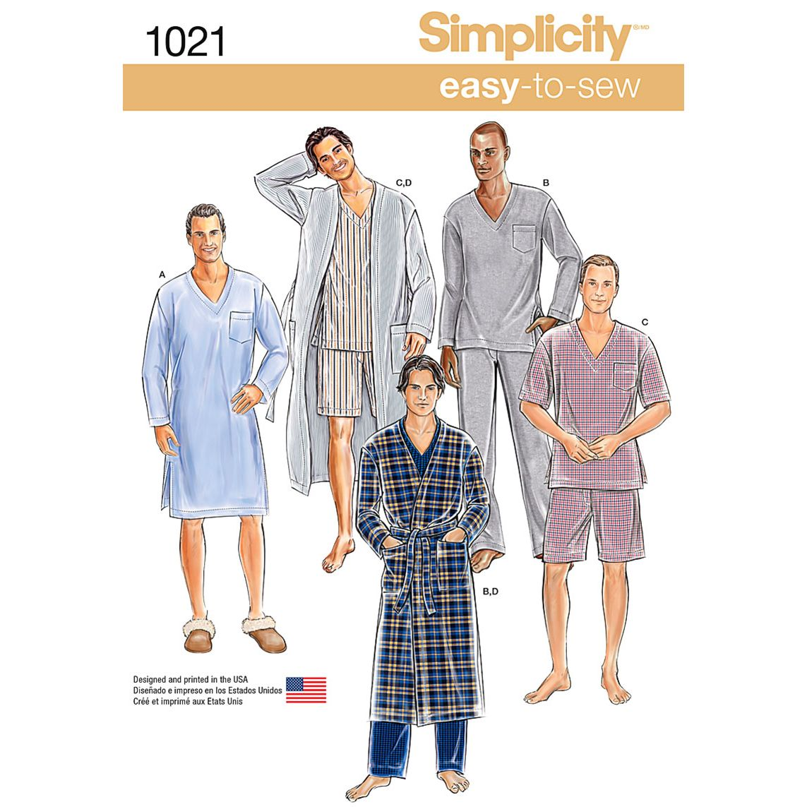 Simplicity mens classic pyjamas and robe sewing pattern 1021 simplicity mens classic pyjamas and robe sewing pattern 1021 thumbnail jeuxipadfo Gallery