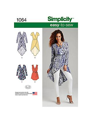 Simplicity Women's Tunic Dress Sewing Pattern, 1064