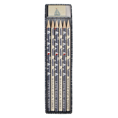 John Lewis Coastal Pencil Set, Set of 6
