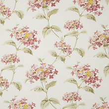 Buy John Lewis Floirbunda Furnishing Fabric, Ash Rose Online at johnlewis.com